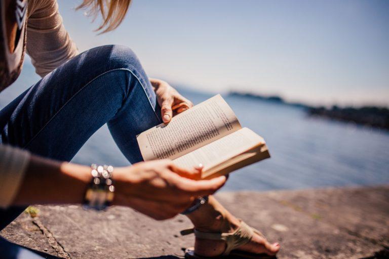 reading_book_girl_woman_people_sunshine_summer_lake-860339